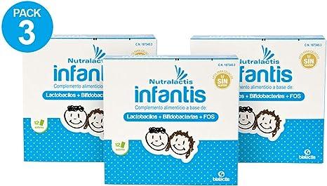 Pack 3 Nutralactis Infantis - 36 sobres con 3.000 millones de ...