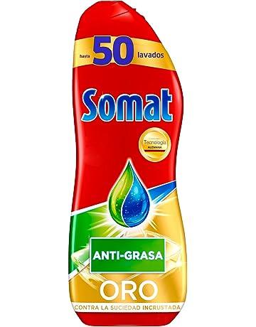 Somat Oro Gel Lavavajillas Antigrasa - 50 Lavados (900 ml)