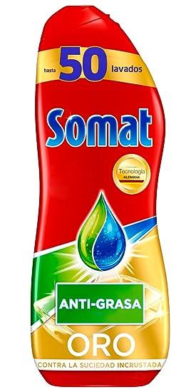Somat Oro Detergente Gel Lavavajillas Antigrasa - 50 Lavados (900 ...