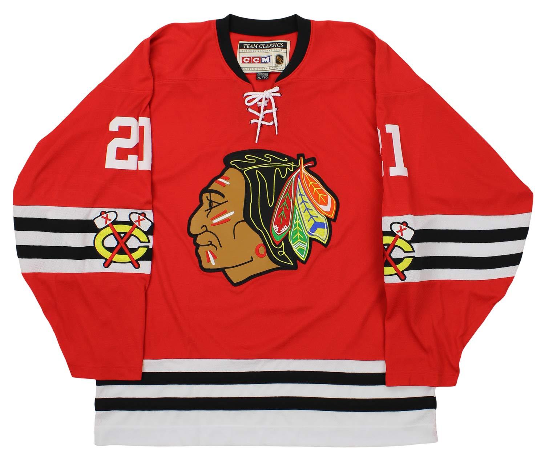 Amazon.com   NHL Mens Chicago Blackhawks Mikita Team Classic Jersey ... 5d2907c4a