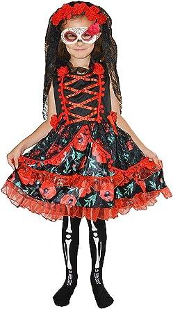 Forever Young Kids Girls Día de los Muertos Esqueleto Zombie ...