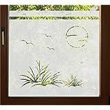 Xl fenstertattoo selbstklebend retro vierecke karos quadrate glas028 140x57 cm 600141 - Sichtschutzfolie badfenster ...