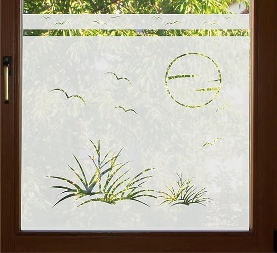 Folie für badezimmerfenster  GD37 / 80cm hoch Sichtschutz Folie Bad Badezimmer Düne Fenster ...