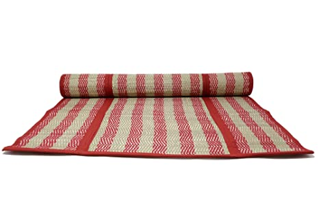 Amazon.com: Handloom Fibra de eco friendly Crimson Beige ...