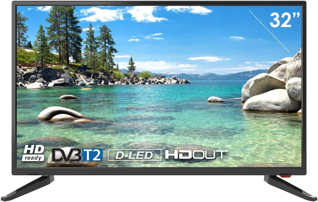 Televisor Smart Tech by BSL de 32 Pulgadas DBVT2   HD Ready LED de 1366x768p   Conexión scart, HDMI ARC, HDMIx2, VGA, COAXIAL, AV IN, Ypbr: Amazon.es: Electrónica