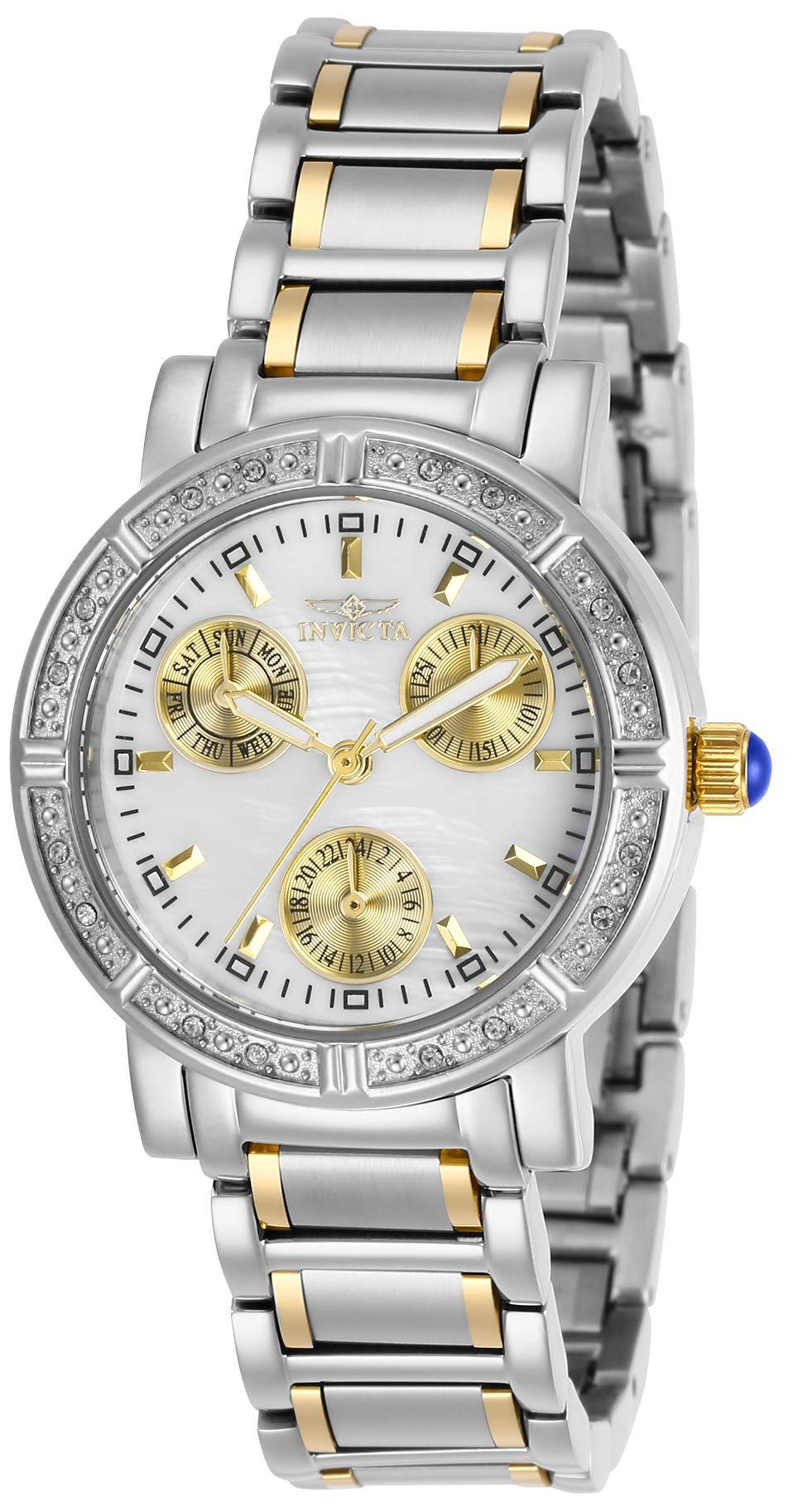 ویکالا · خرید  اصل اورجینال · خرید از آمازون · Invicta Women's Angel Quartz Stainless-Steel Strap, Two Tone, 16 Casual Watch (Model: 29117) wekala · ویکالا