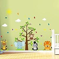 Adesivo de Parede Safari Arvore Infantil para Quarto
