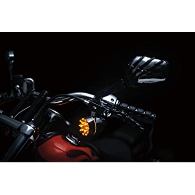 Kuryakyn 1764 Motorcycle Handlebar Accessory: Skeleton Hand Rear View Side Mirrors, Black Stems/Chrome Heads, 1 Pair: Automotive