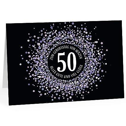 Grandes XXL Diseño Tarjeta de felicitación para 50 ...