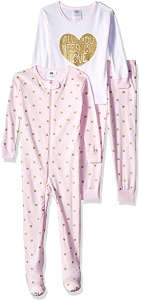4451b07fd30 Just Born - Conjunto de Pijama para niña (3 Piezas)  Amazon.com.mx ...