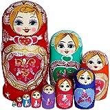 ロシア人形 木製 置物 ロシア民芸 ロシアの人形 マトリョーシカ人形 手作り塗装 人形 おもちゃ マトリョーシカ 民芸品 装飾 置物 10個セット