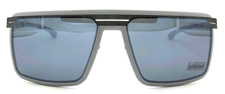 556ab6c9693 Amazon.com  ic! berlin The Superhero Grey Polarized Sunglasses  Clothing