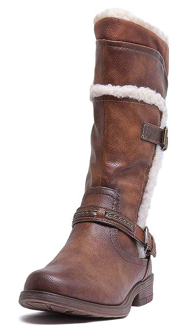 Mustang Damen Stiefel gefüttert RotBraun, Schuhgröße:EUR 36