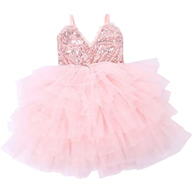53b8df9ddeb5 Cilucu Girls Dress Toddler Kids Party Dress Sequin Tutu Pageant Lace  Dresses Gown for Flower Girl