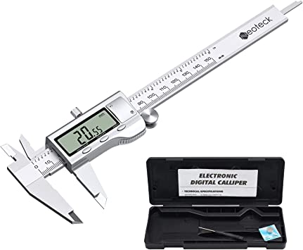 Large LCD Screen Neoteck 4 inch//100mm Digital Caliper Stainless Steel Electronic Calipers Measuring Tool inch//mm Conversion