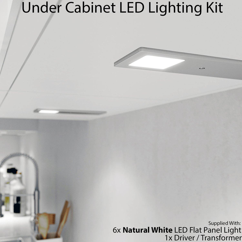 6 x 5 W LED Küche Slimline Badezimmerschrank Panel Spot Beleuchtung ...