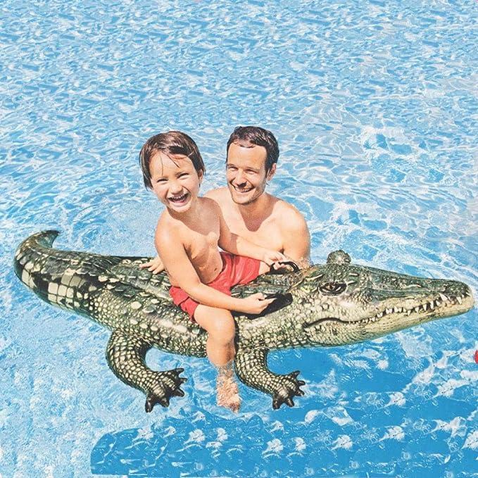 Los niños Adultos flotan en la Piscina PVC Espesan la Playa ...