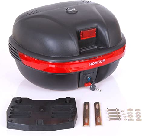 Baul Moto Universal 35L con LLaves y Soporte Caja de Moto Topbox ...