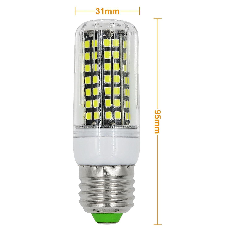 MENGS® Pack de 6 Bombilla lámpara LED 10 Watt E27, 112x 2835 SMD Con placa de aluminio, Blanco frío 6500K, AC 220-240: Amazon.es: Iluminación
