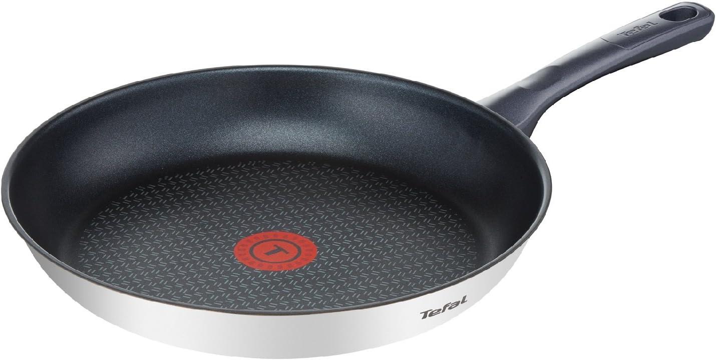 Tefal Daily Cook - Sartén de 24 cm, antiadherente de acero inoxidable, para todo tipo de cocinas incluido inducción