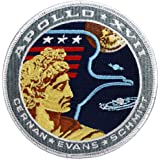 Apollo 17 Mission officiel brodé (Patch) (10 cm de diamètre environ