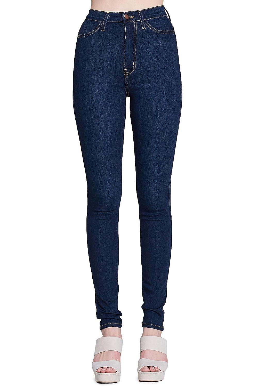 Dark Stone Vibrant Super Stretch High Rise Jeans