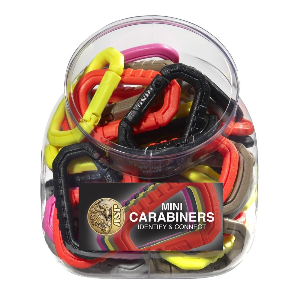 ASP Carabiner Bin (Assortment of 50) 81298, Assorted Color