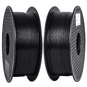 PLA Filament 1.75mm, 2kg ( 2 bobines) blanc ou noir