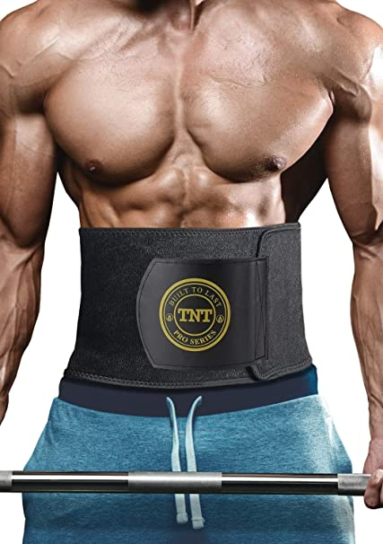 19164bc041 TNT Pro Series Waist Trimmer Weight Loss Ab Belt - Premium Stomach Fat  Burner Sweat Wrap