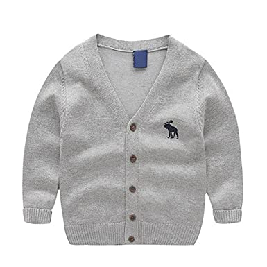 c9d4302bf45c Amazon.com  Toddler Kids Unisex Baby V-Neck Solid Color Long Sleeve ...