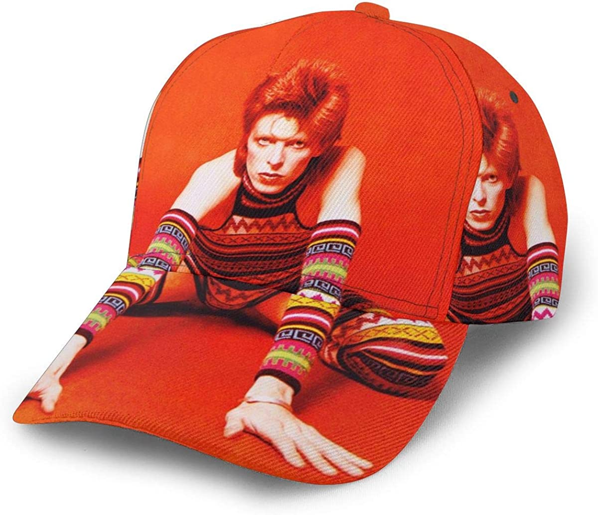 Ayobaby Bowie Rise Printed Baseball Cap Adjustable Graffiti Hat for Men and Women Cowboy Hat Unisex Sun Hat Black