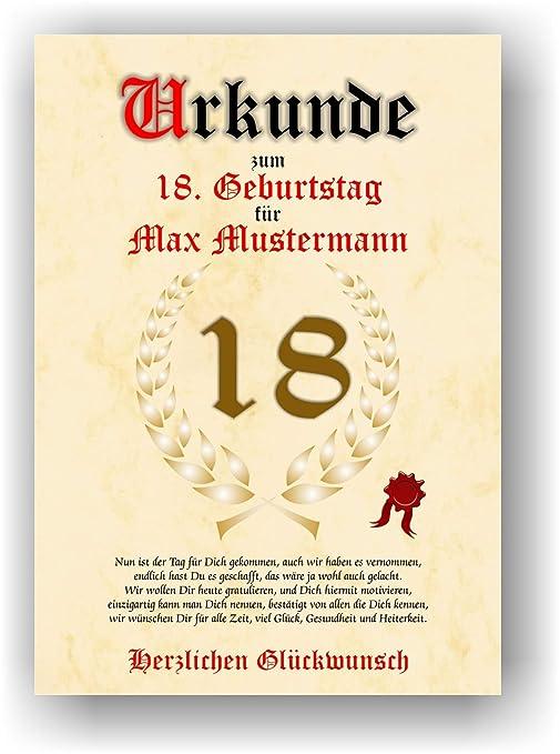 Documento de 18 cumpleaños - Tarjeta de felicitación de ...