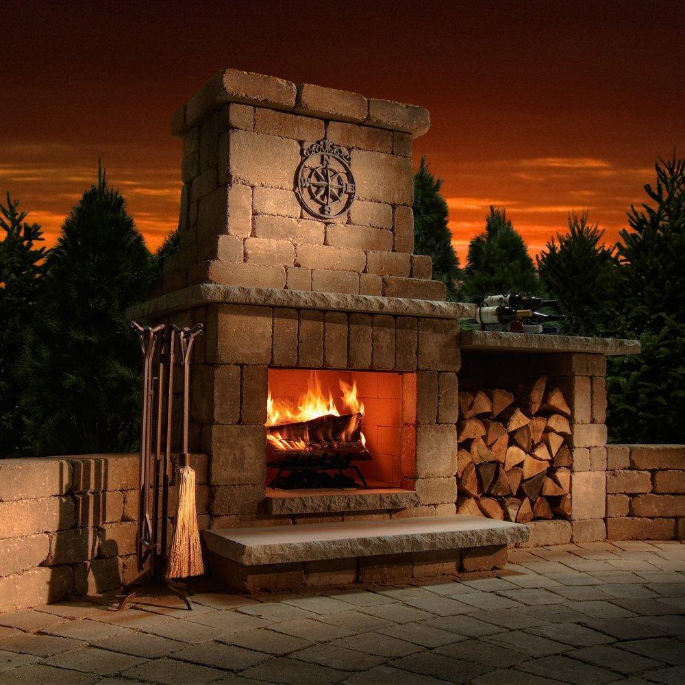Amazon.com : Necessories Colonial Outdoor Fireplace in Bluestone ...