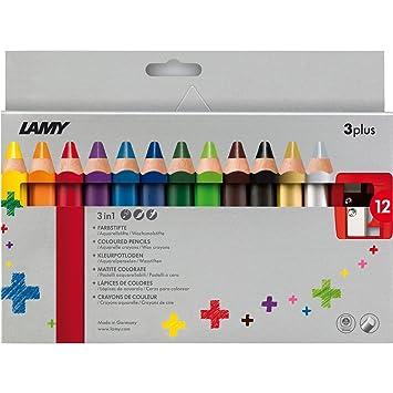 Lamy 1223548 Buntstift Set Farbstift 3plus 12er Faltschachtel ...