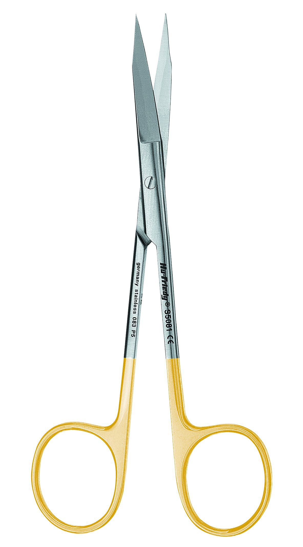 Hu-Friedy S5082 Straight Iris Perma Sharp Scissors, 11.5 cm/4.5''