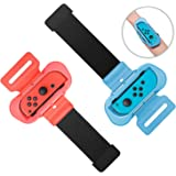 Wrist Bands for Just Dance 2021 2020 and Zumba Burn It Up for Nintendo Switch Controller Game, Adjustable Elastic Strap…