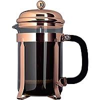 Grunwerg TM10CU Café Olé Classic Range Cafetière, 8-Cup (1 liter) Franse pers, glas met koperen afwerking…