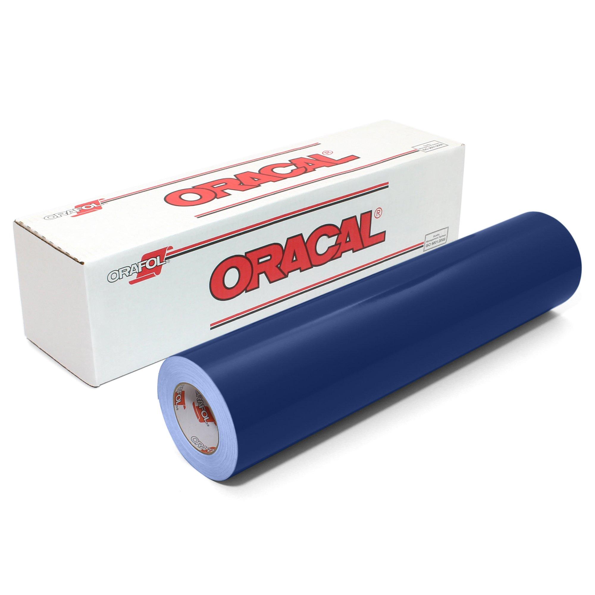 Oracal 651 Glossy Vinyl Roll 24 Inches by 150 Feet - Dark Blue