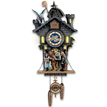 Amazon.com: Wizard of Oz Wicked Witch Cuckoo Clock With Lights, Sound, Motion by The Bradford Exchange: Home & Kitchen