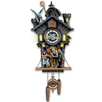 Wizard of Oz Wicked Witch Cuckoo Clock With Lights, Sound ...