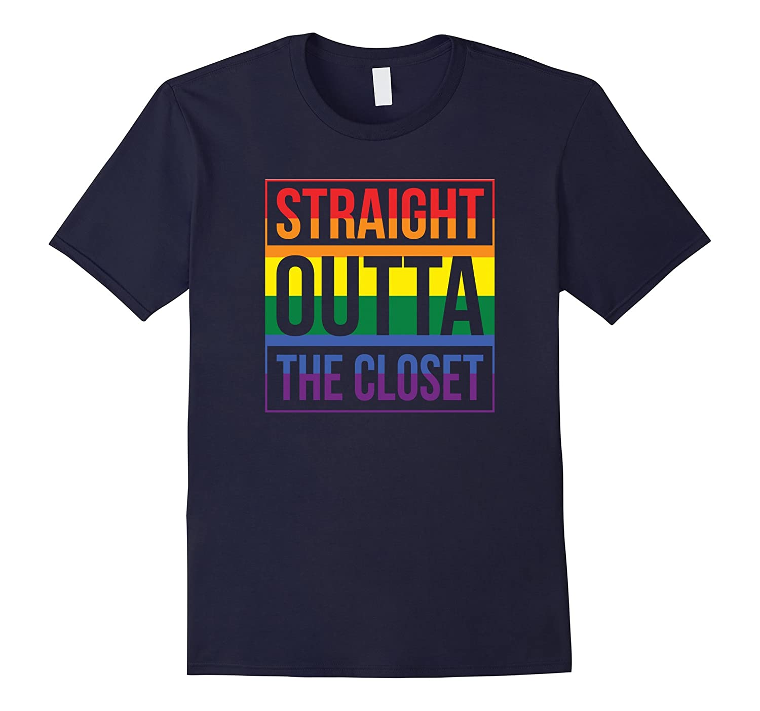 Straight Outta the Closet Pride T-Shirt-T-Shirt
