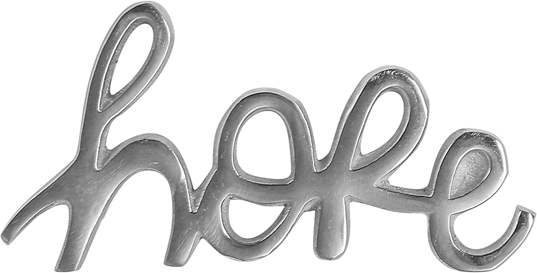 Ardour Hope Sign for Home Decor,Decorative Metal Cutout Word Decor Freestanding Hope Tabletop Decor, 6.5