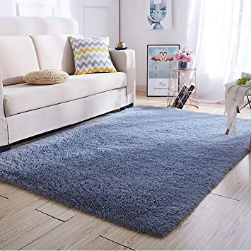 Grey Nursery Rug Children Animal Rugs for Kids Bedroom Play Room Soft Thick Mat