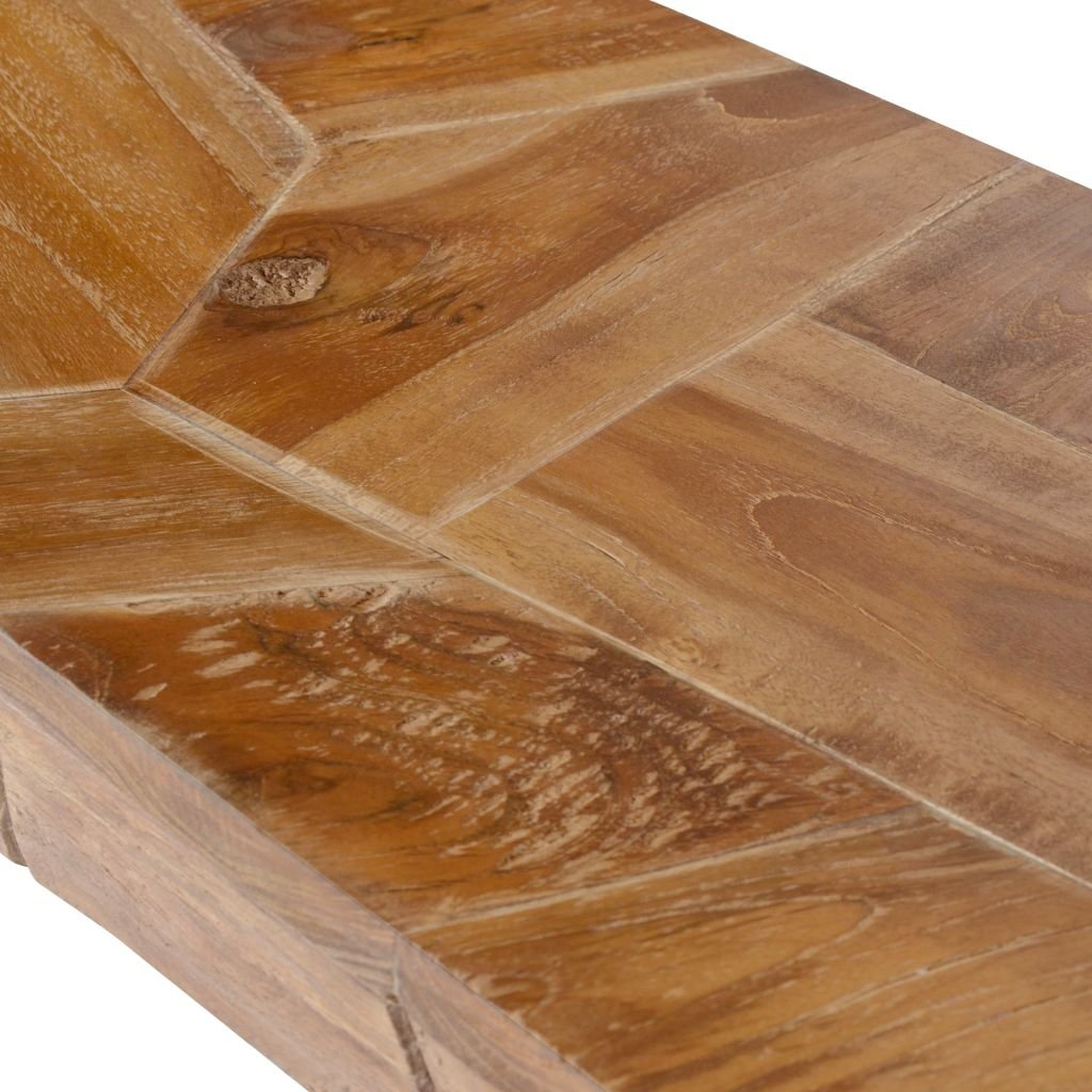 vidaXL Teak TV Schrank Erosion 120x35x35 cm Fernsehtisch Lowboard Sideboard