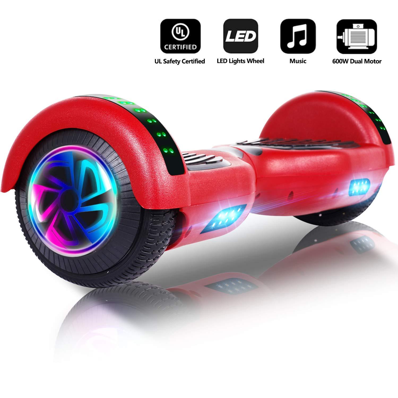 jolege Hoverboard Scooter eléctrico con Auto balanceo de 6.5 ...