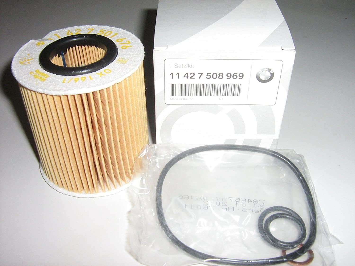 Oil Filter For Bmw Part Number 11 42 7 508 969 Fits All 4 Cylinder Petrol 02 Amazon De Auto