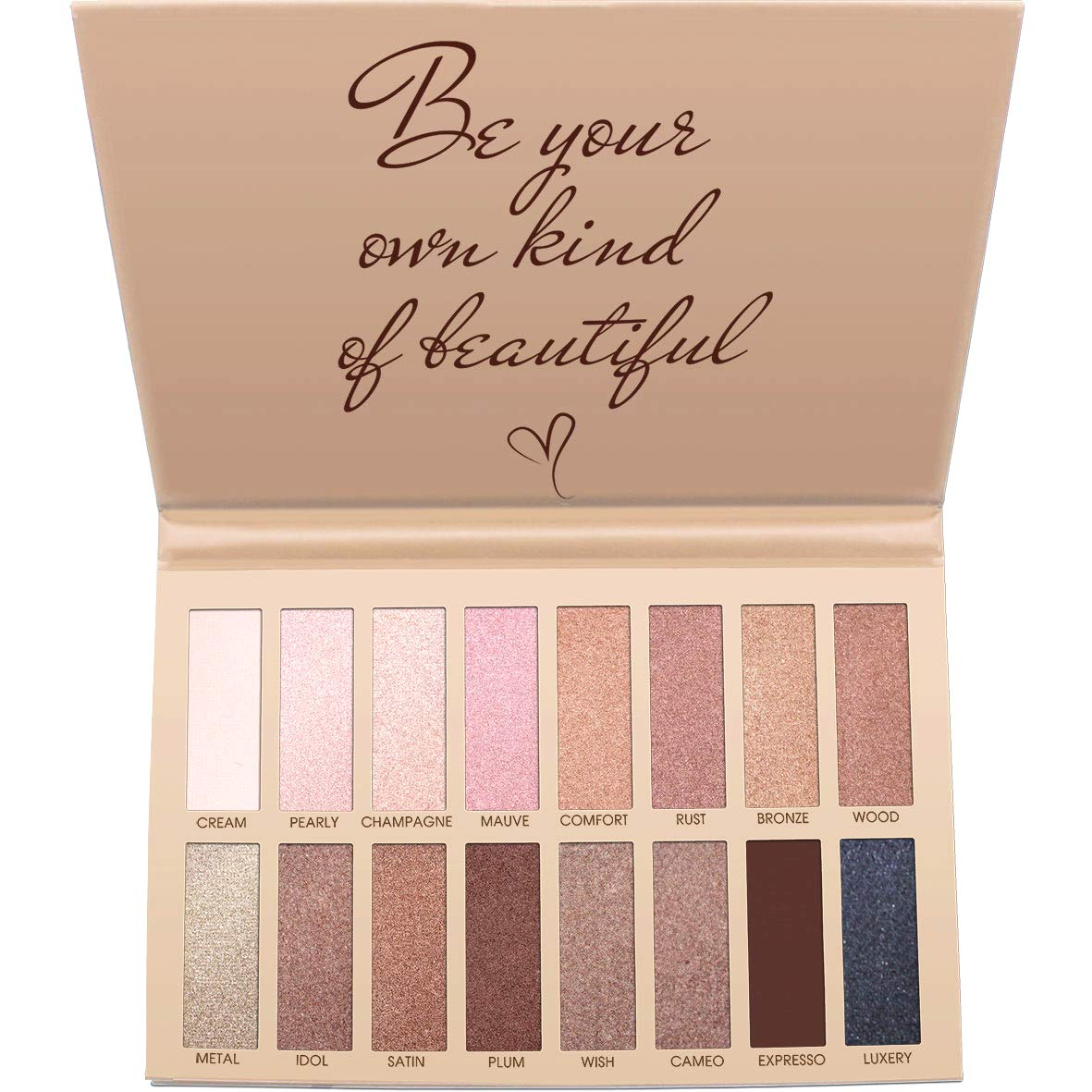 Lamora Best Pro Eyeshadow Palette Makeup - Matte Shimmer 16 Colors - Highly Pigmented - Professional Nudes Warm Natural Bronze Neutral Smoky Cosmetic Eye Shadows