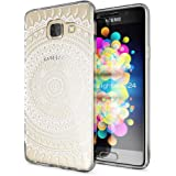 Samsung Galaxy A3 2017 Case Phone Cover by NICA, Ultra-Thin Silicone Pattern Back Protector Soft Skin, Crystal Clear Gel Shockproof Bumper, Slim Transparent Protective, Designs:Mandala White