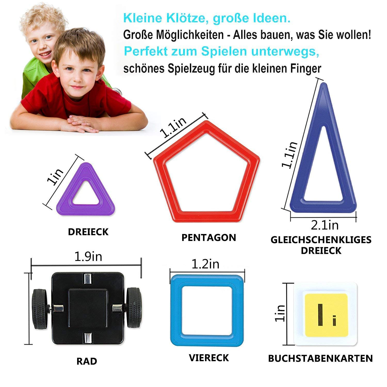 bunt StillCool Bausteine Magnetische 76 PCS Magnetische Baukl/ötze DIY 3D Lernspielzeug f/ür Baby,Kleinkinder Geschenk f/ür Kinder Kleinkind ab 3 Jahre