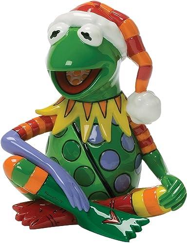 Enesco Disney by Britto Christmas Kermit The Frog Figurine, 3-1 2-Inch